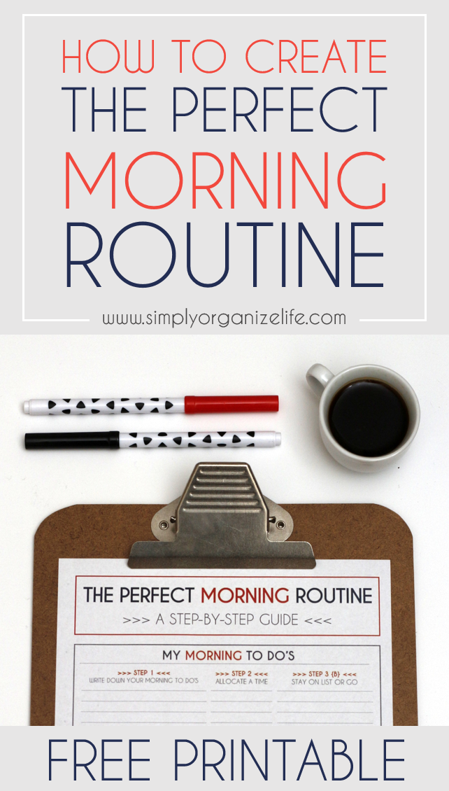 How to Create Your Perfect Morning Routine (PLUS FREE WORKSHEET)